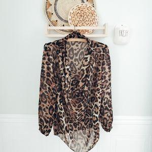 QED London leopard print blouse